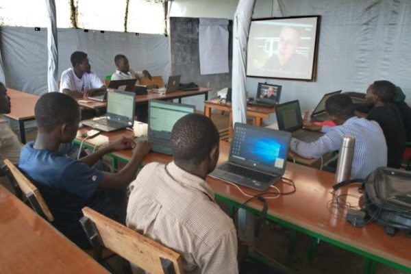 Video conference classes for the refugees